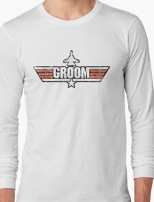 Top Gun Style Bachelor / Stag Party Shirt (Groom) Long Sleeve T-Shirt