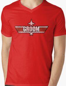 Top Gun Style Bachelor / Stag Party Shirt (Groom) Mens V-Neck T-Shirt