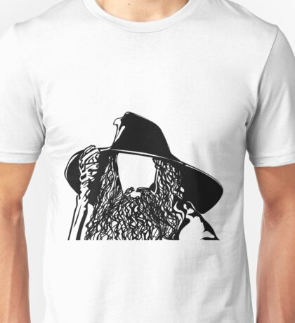 Ian as The Grey Wizard vacant expression Unisex T-Shirt