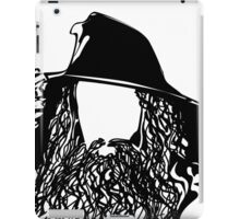 Ian as The Grey Wizard vacant expression iPad Case/Skin