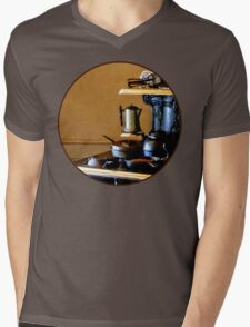 Coffeepot on Stove Mens V-Neck T-Shirt