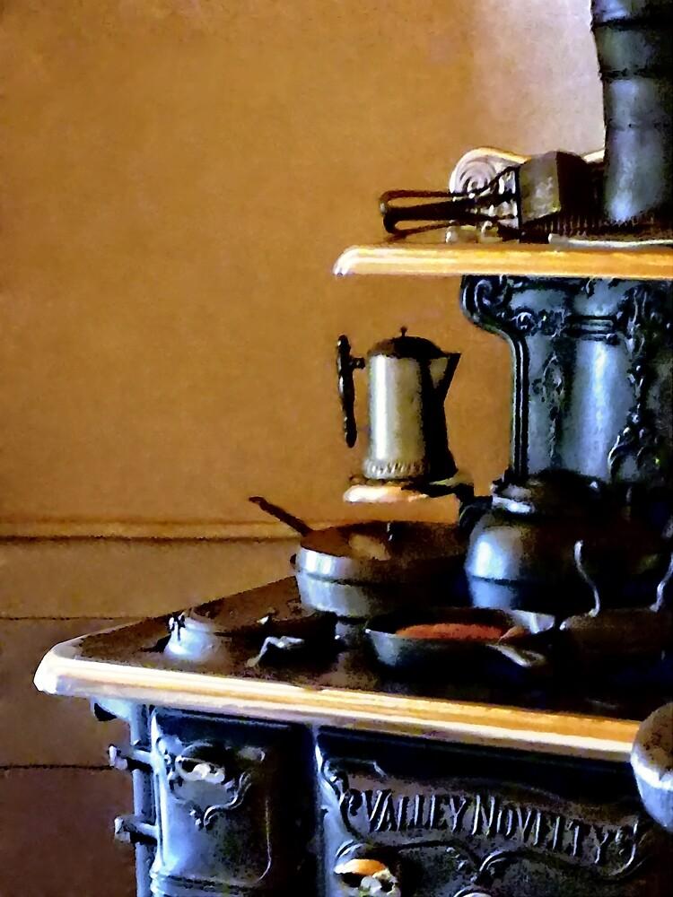 Coffeepot on Stove by Susan Savad