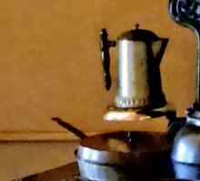 Coffeepot on Stove Sticker