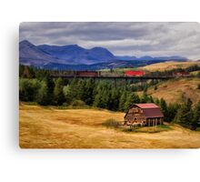 Montana Country Barn Canvas Print