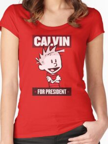 Calvin For President Women's Fitted Scoop T-Shirt