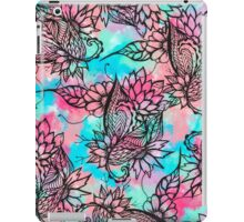 Modern floral watercolor hand drawn fall trend iPad Case/Skin