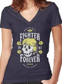 Fighter Forever Ken Women's Fitted V-Neck T-Shirt