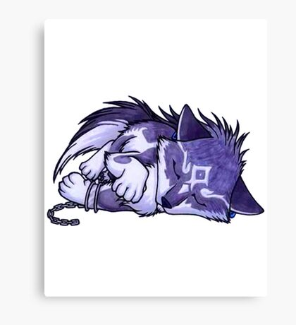 cute wolf Canvas Print