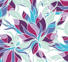 Modern purple turquoise fall floral pattern Sticker