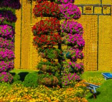 United Arab Emirates. Dubai. Miracle Garden. Flower Arches & Fruit Castle. Sticker