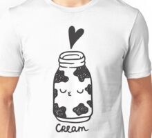 "Cream (one of the paired t-shirts - look at ""Coffee"" design:) Unisex T-Shirt"