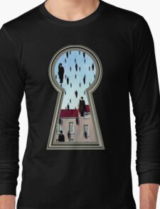 """Magritte from the lock"" Long Sleeve T-Shirt"