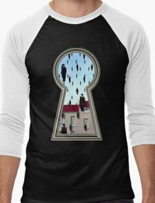 """Magritte from the lock"" Men's Baseball ¾ T-Shirt"