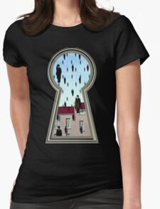 """""""Magritte from the lock"""" Womens Fitted T-Shirt"""