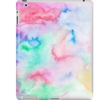 Bright abstract pink blue hand painted watercolor iPad Case/Skin