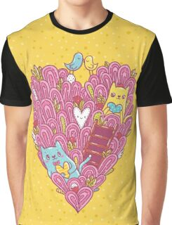 Valentine's cats Graphic T-Shirt
