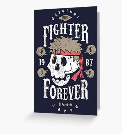 Fighter Forever Ryu Greeting Card