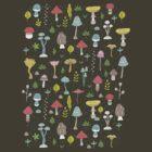Mushrooms by Anna Alekseeva