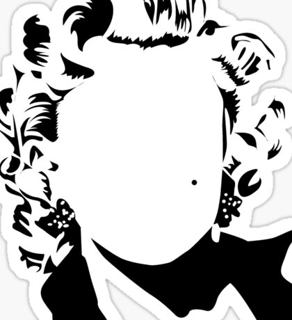 Marilyn - vacant expression Sticker