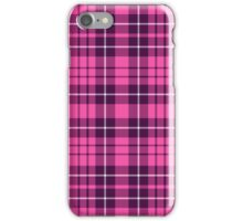 Pink And Purple Checkered Tartan Plaid Pattern iPhone Case/Skin