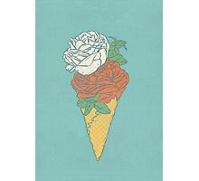 Rose ice cream Photographic Print