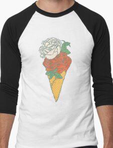 Rose ice cream Men's Baseball ¾ T-Shirt