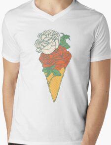 Rose ice cream Mens V-Neck T-Shirt