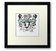 Geeky Tiger Framed Print