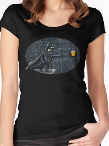 darth robot Women's Fitted Scoop T-Shirt