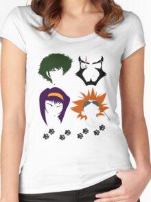 Cowboy Bebop faces Women's Fitted Scoop T-Shirt