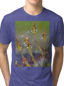 Macro Moss Grass Tri-blend T-Shirt