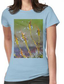 Macro Moss Grass Womens Fitted T-Shirt