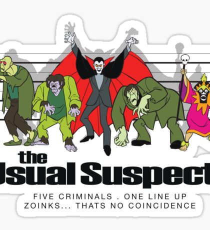 Usual Suspects Sticker