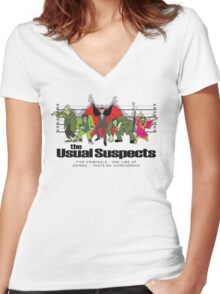 Usual Suspects Women's Fitted V-Neck T-Shirt