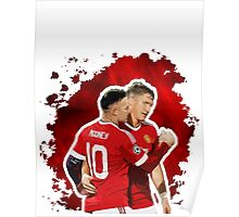 Wayne Rooney and Bastian Schweinsteiger Poster