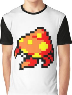 Pokemon 8-Bit Pixel Parasect 047 Graphic T-Shirt