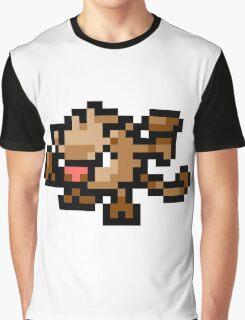 Pokemon 8-Bit Pixel Mankey 056 Graphic T-Shirt