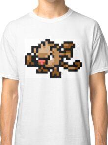Pokemon 8-Bit Pixel Mankey 056 Classic T-Shirt