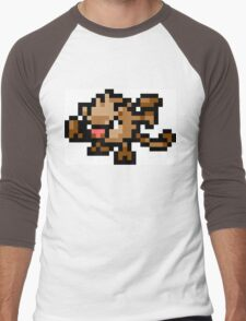 Pokemon 8-Bit Pixel Mankey 056 Men's Baseball ¾ T-Shirt