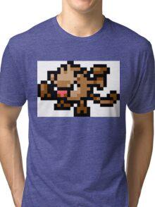 Pokemon 8-Bit Pixel Mankey 056 Tri-blend T-Shirt