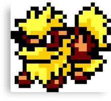 Pokemon 8-Bit Pixel Arcanine 059 Canvas Print