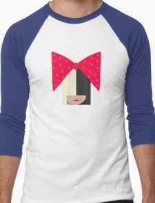Sia (Black Background) Men's Baseball ¾ T-Shirt