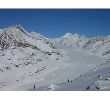 Aletsch glacier in Switzerland Photographic Print