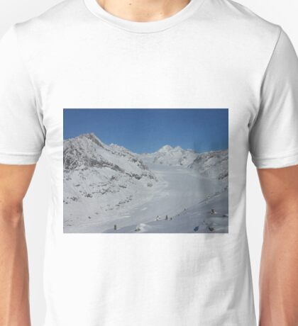 Aletsch glacier in Switzerland Unisex T-Shirt