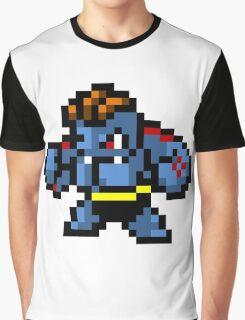 Pokemon 8-Bit Pixel Machoke 067 Graphic T-Shirt