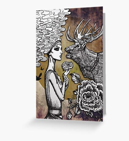 The Lonely Goddess Greeting Card