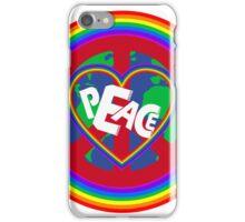 Peace on earth (rainbow) iPhone Case/Skin