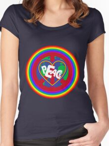 Peace on earth (rainbow) Women's Fitted Scoop T-Shirt