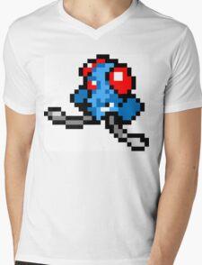 Pokemon 8-Bit Pixel Tentacool 072 Mens V-Neck T-Shirt