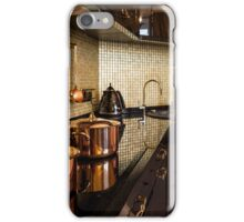 copper pans on the stove iPhone Case/Skin